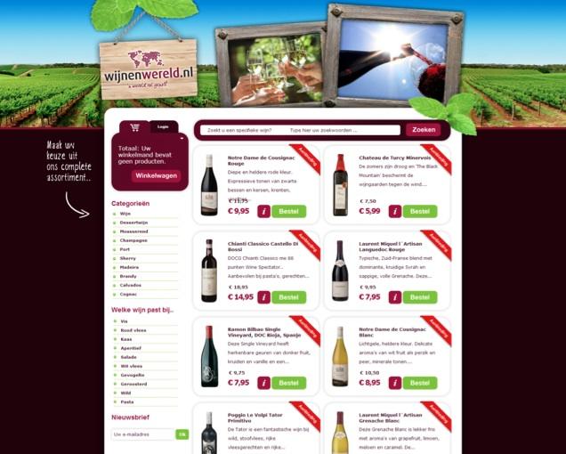 Waar is de online verkoper bij Wijnenwereld