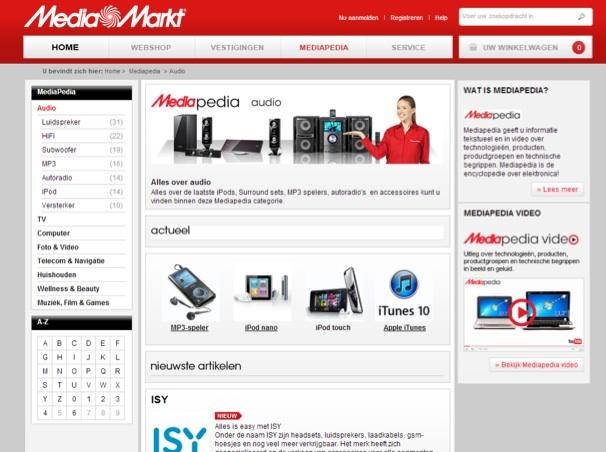 Waar is de online verkoper bij de Mediamarkt