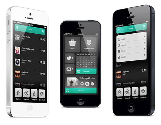 smartphone user interface ontwerp