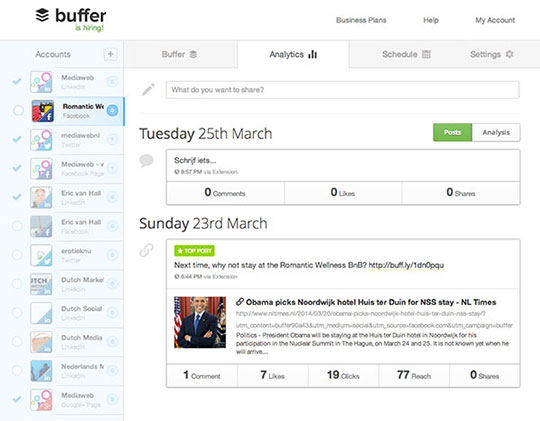 Bufferapp screenshot