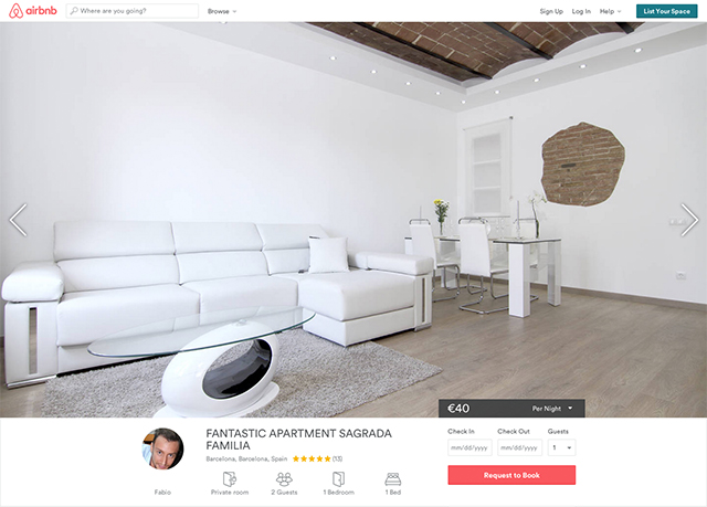 Airbnb screenshot detailpagina