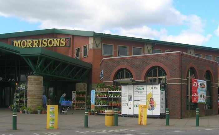Inpost packstation bij Morrisons UK