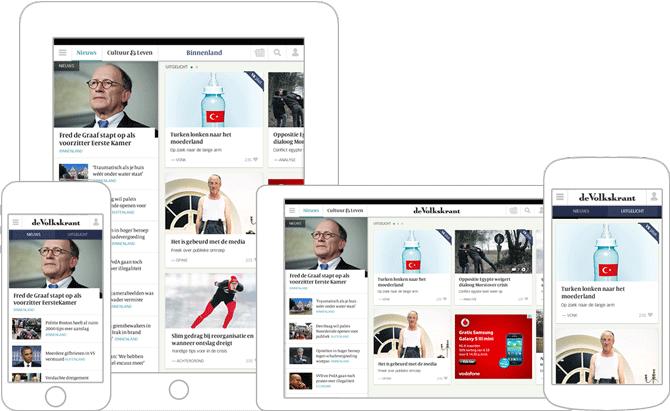 01_Volkskrant Apps redesign iOS Android door Soda Studio