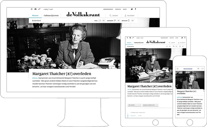 01_Volkskrant responsive website design door Soda Studio