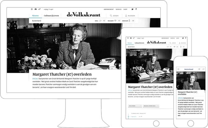 01_Volkskrant responsive website design door Soda Studio