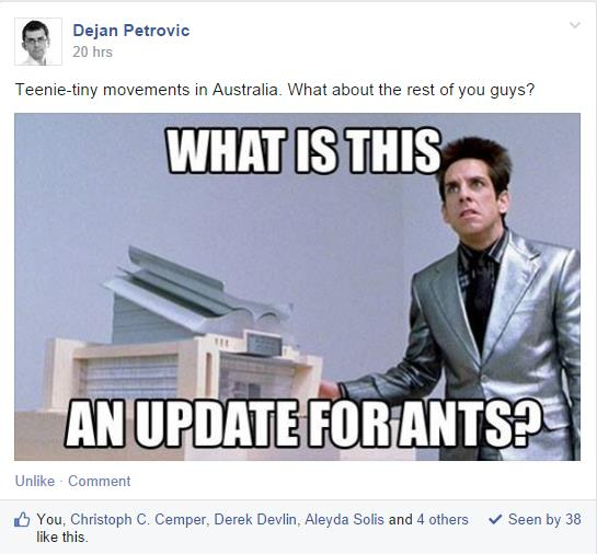 what is this an update for ants facebook