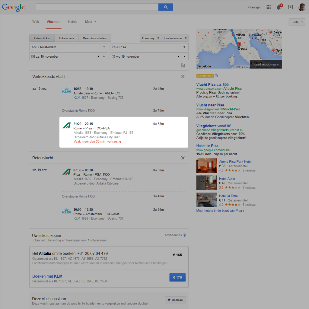 Google als concurrent van booking.com en cheaptickets.nl ...