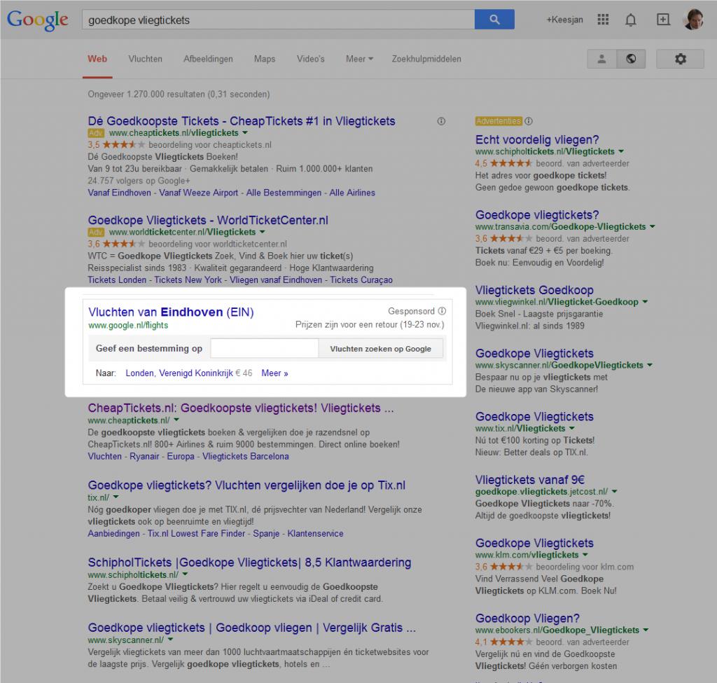 google-flights-goedkope vliegtickets