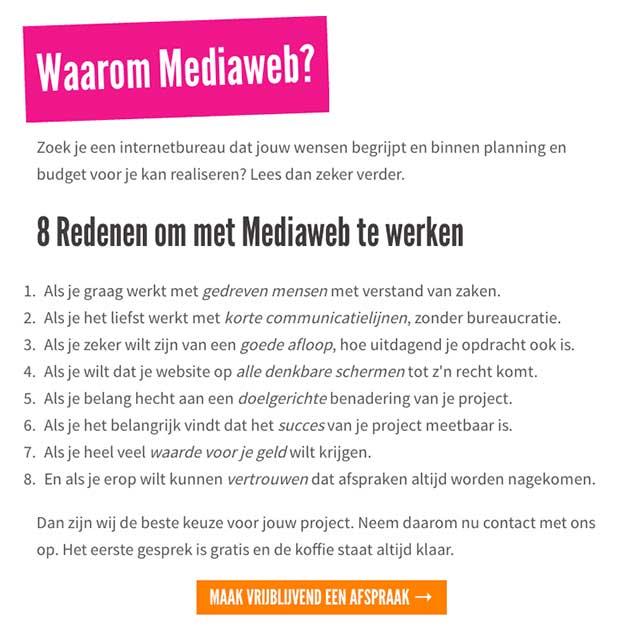 Oude 'Waarom Mediaweb?' pagina