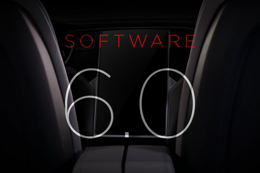 Tesla software update: versie 6.0