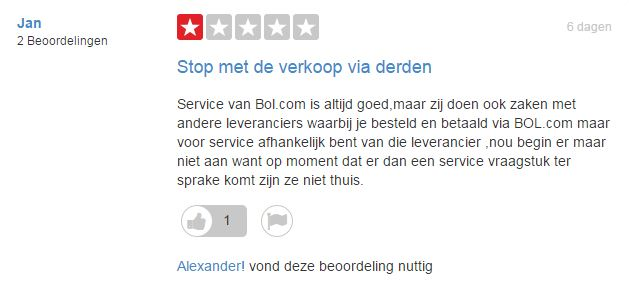 review detail trustpilot over bol