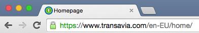 Transavia homepage