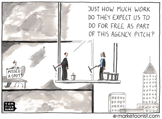 Agency pitch Marketoonist cartoon