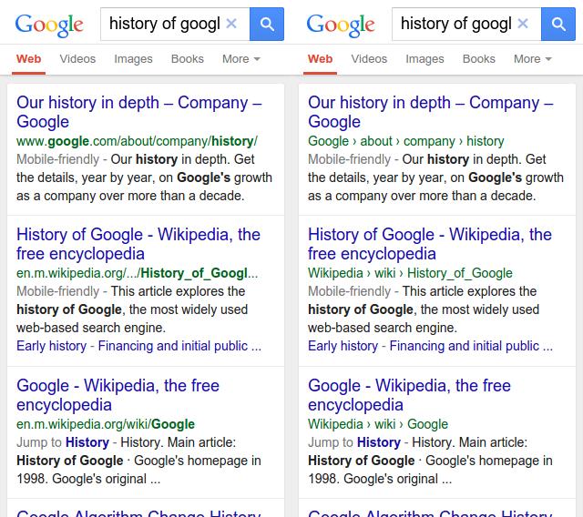 Google gestructureerde URL's