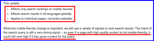 Official Google Webmaster Central Blog Rolling out the mobile friendly update