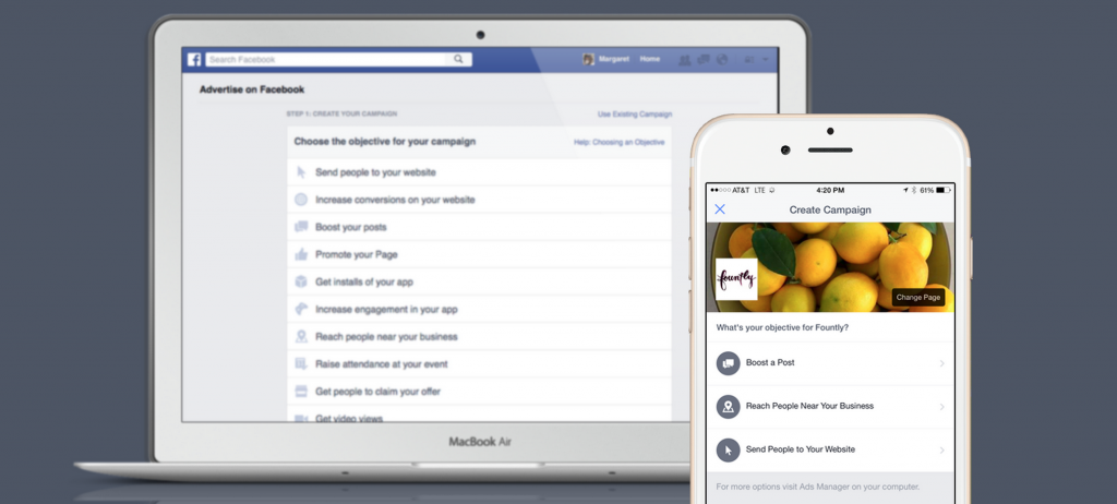 Aanmaken nieuwe advertentie Atlas Facebook