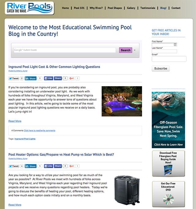 screenshot river pools and spas