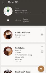 Starbucks app (Foto: mobilecommercedaily.com)