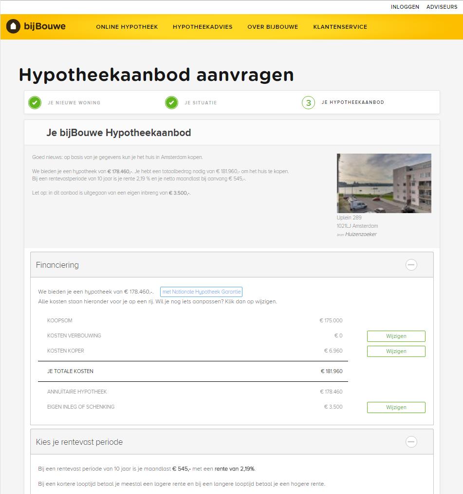 bijBouwe-online-hypotheek-hypotheekadvies-finno-hypotheekaanbod-resultaat