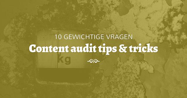 10 vragen voor je content audit