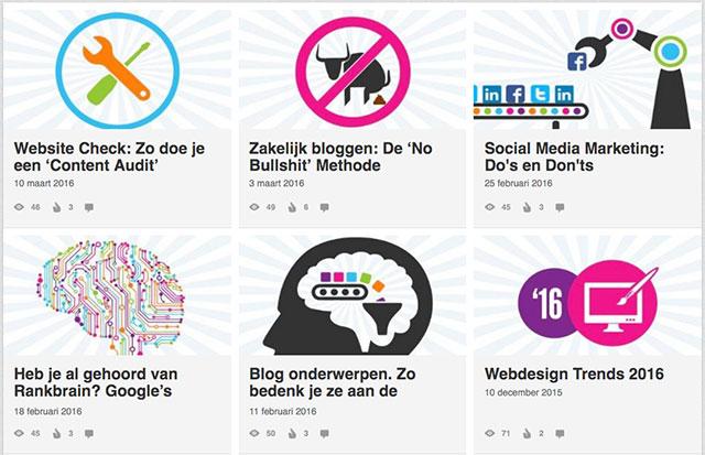 Herkenbare stijl afbeeldingen Mediaweb