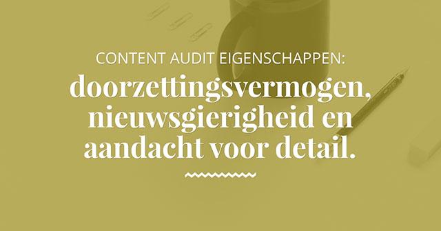 Content audit eigenschappen