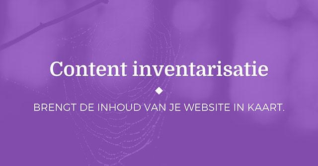 Content inventarisatie