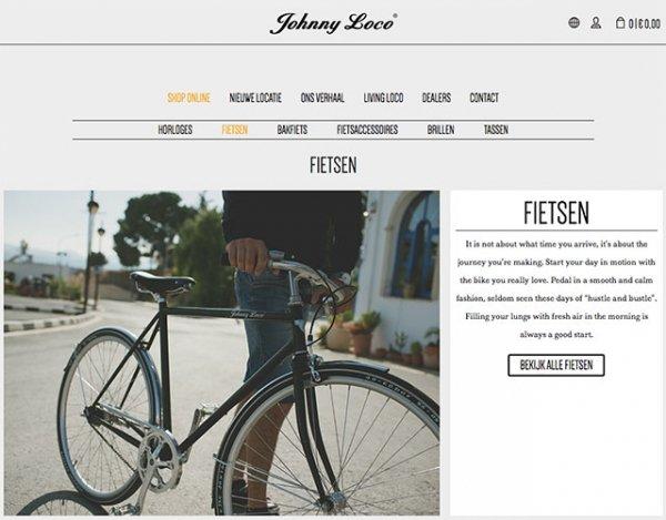 De uitstekende categoriepagina van Johnny Loco