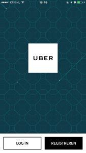 Uber blauw scherm