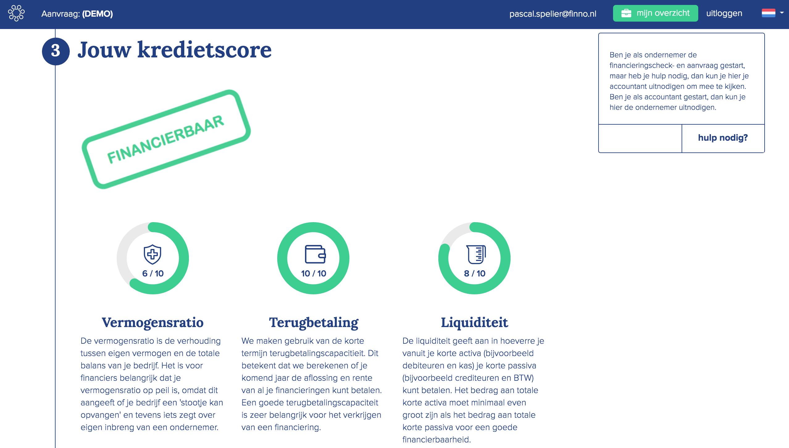LoanStreet-kredietscore-financierbaar-vermogensratio-terugbetalingscapaciteit-liquiditeit-finno