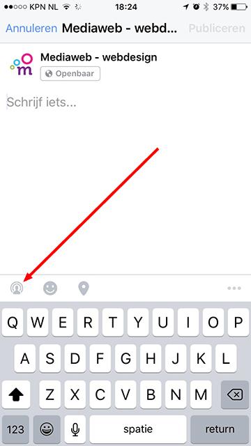 facebook live knop