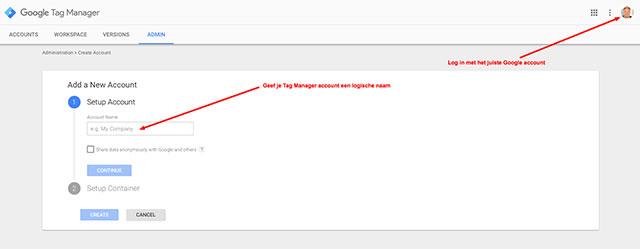 google-tag-manager-account-aanmaken