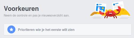 facebook-voorkeuren