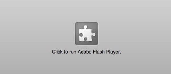 Flash geblokkeerd