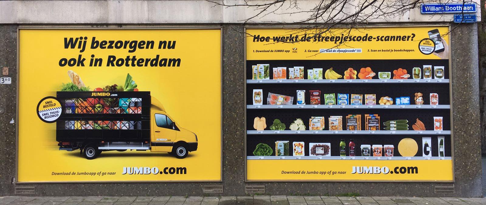Virtuele supermarkt van Jumbo in Rotterdam