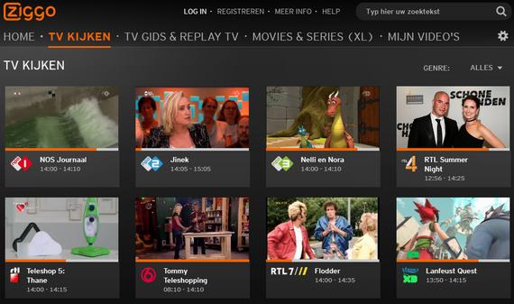 Ziggo Go tv website nu op HTML5 basis - Emerce