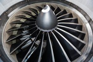 motor van een Boeing 777