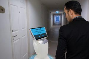 robot in hotel