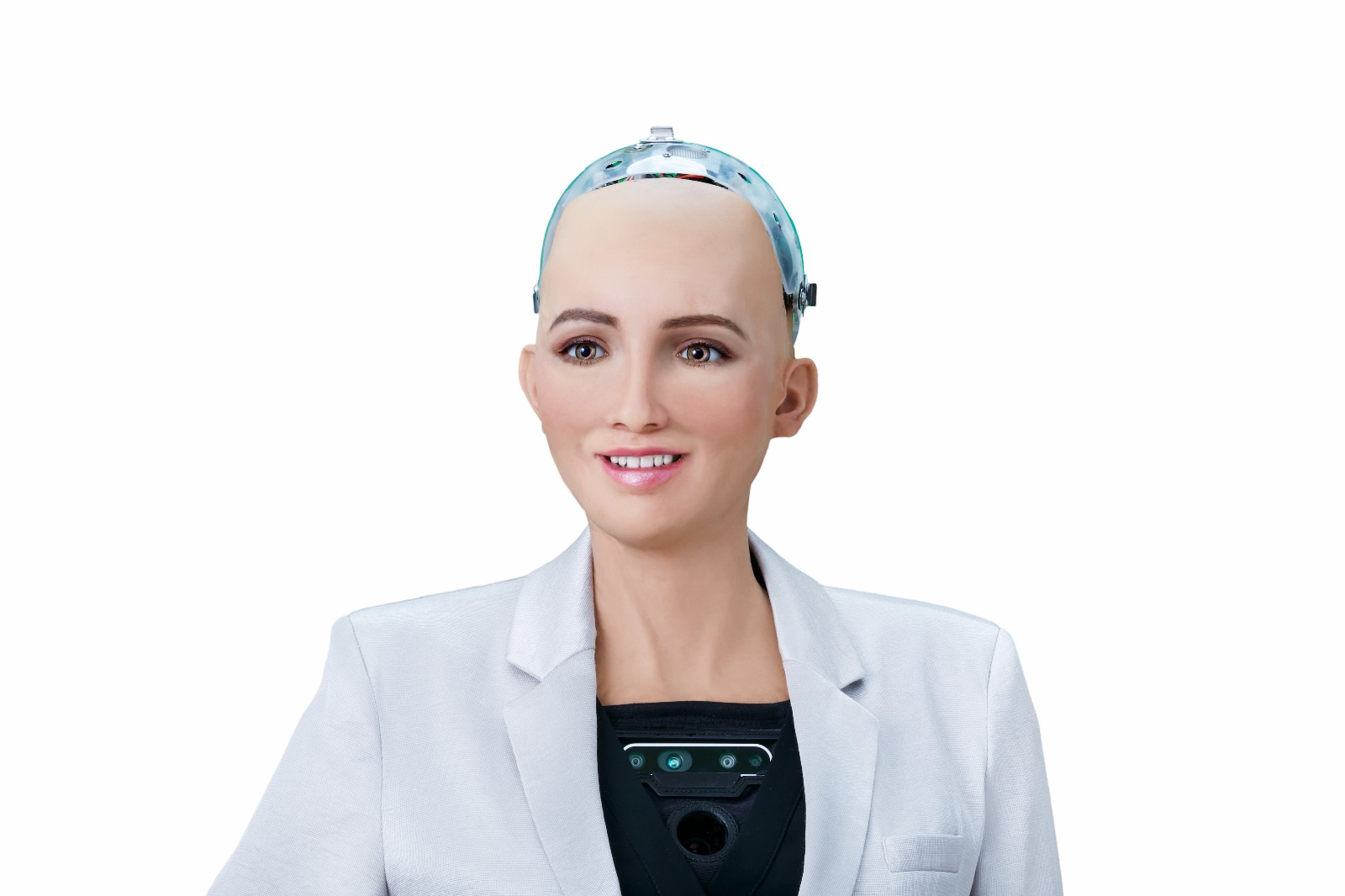 Levensechte Robot Sophia Spreekt Op Forward Thinking