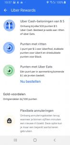Uber Rewards screenshot - Gerrit van Leeuwen