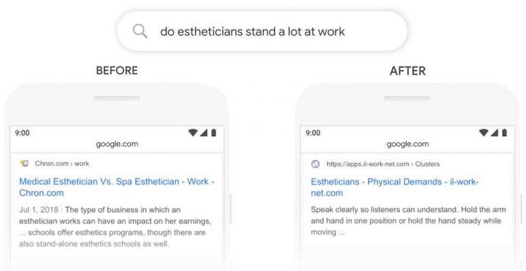 Screenshot voorbeeld Google