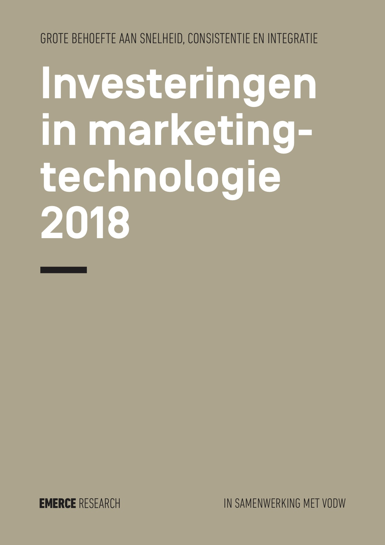 Emerce Research: Marketingtechnologie binnen Nederlandse organisaties 2018