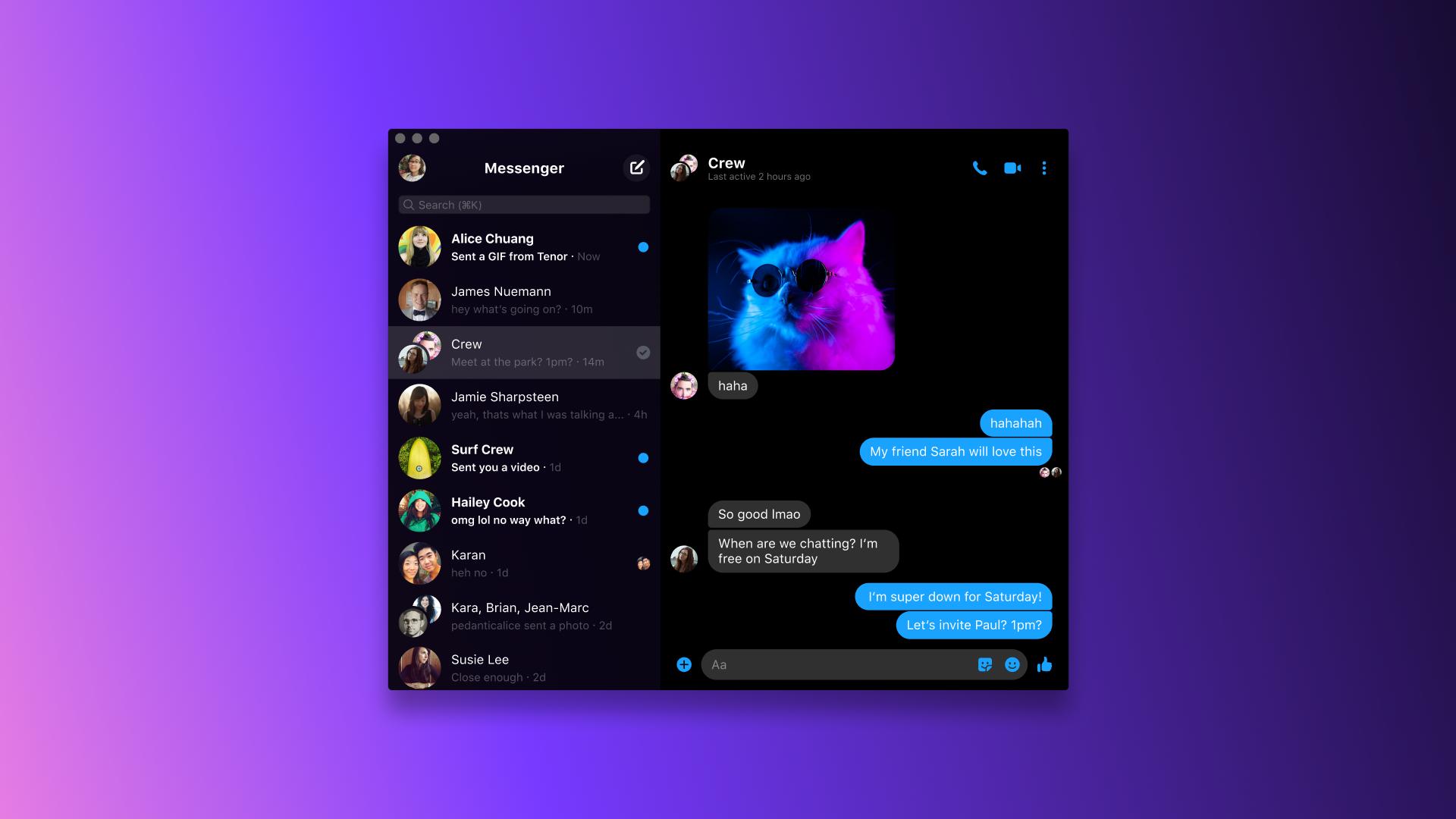 Mac en Windows apps voor Facebook Messenger